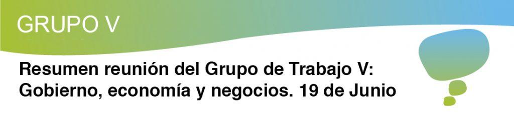Reunion Grupo de Trabajo V de la Red Española de Ciudades Inteligentes RECI