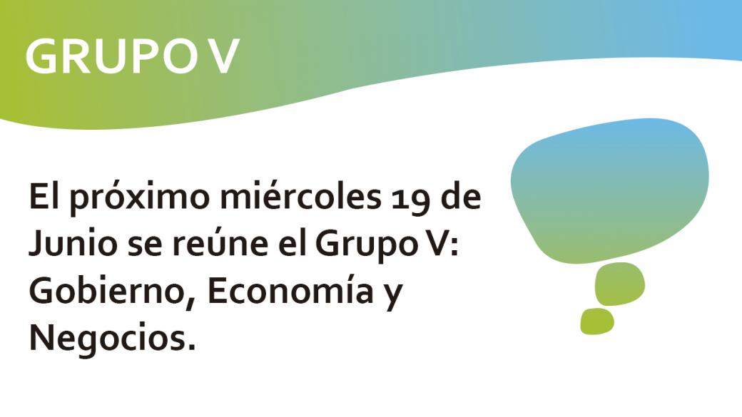 Reunión Grupo de trabajo V de la RECI,  19 de Junio